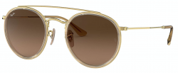Ray-Ban RB3647N Round Double Bridge 9124/43 maat 51-22